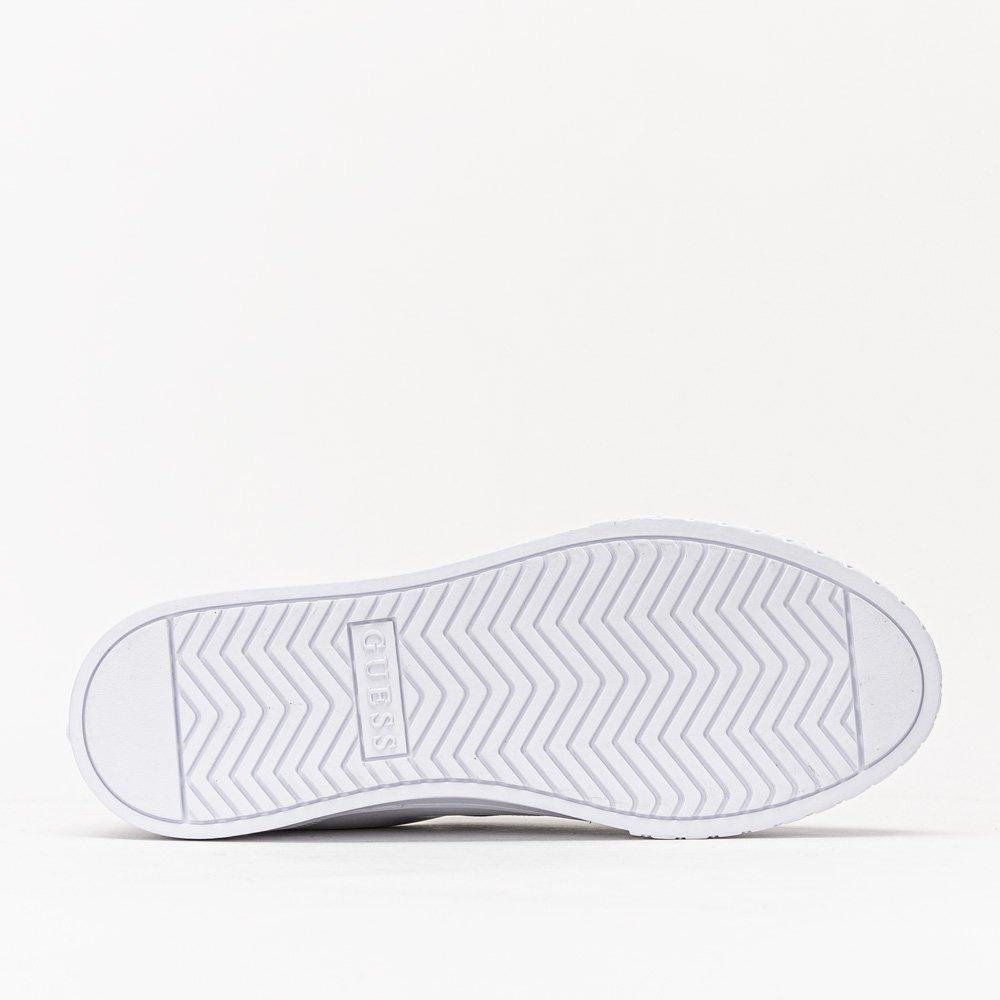 Guess Pardie Logo Lettering FL5PRDELE12-WHB Synthetik Textil Gummi Weiß Sneake